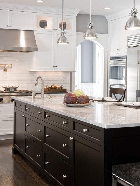 Classy Kitchen Floor Plans with Islands in a Lovely White Form ...