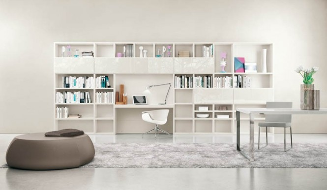Adorable modern living room for stylish young people - Small study room ideas ...