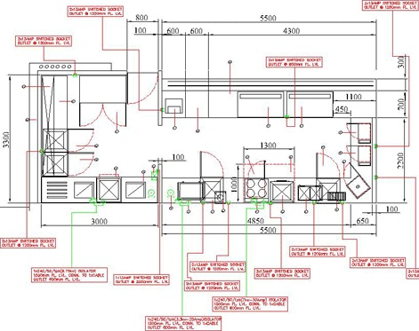 Stylish commercial kitchen design in sophisticated - Space planning in interior design pdf ...