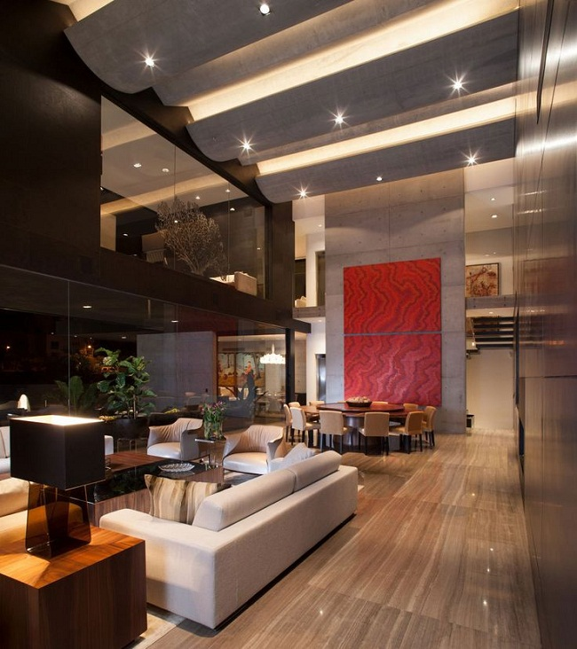 Awesome Living Room with Beautiful Lightings