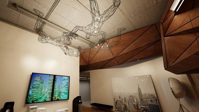 Birdman Penthouse Apartment Lighting Fixture