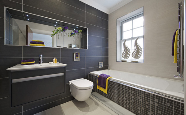Black Tiled Bathroom Designs