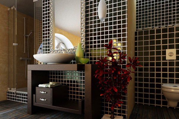 Black and White Tiled Bathroom Designs