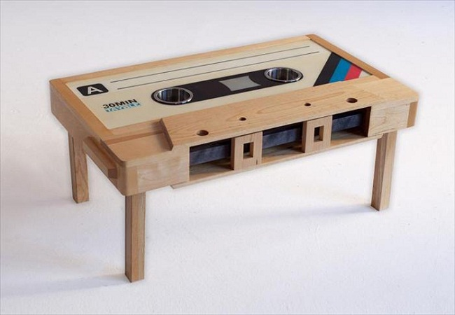 Cassette Shaped Coffee Table