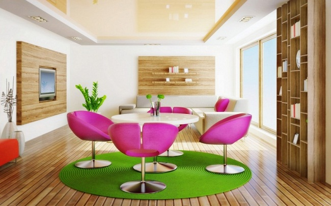 Green and Pink Dining Set