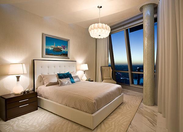 Large Windows Jade Ocean Penthouse Bedroom