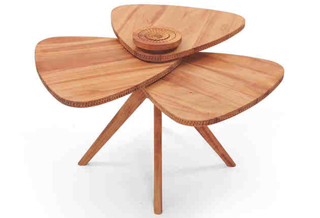 Petal Shape Creative Art Coffee Table