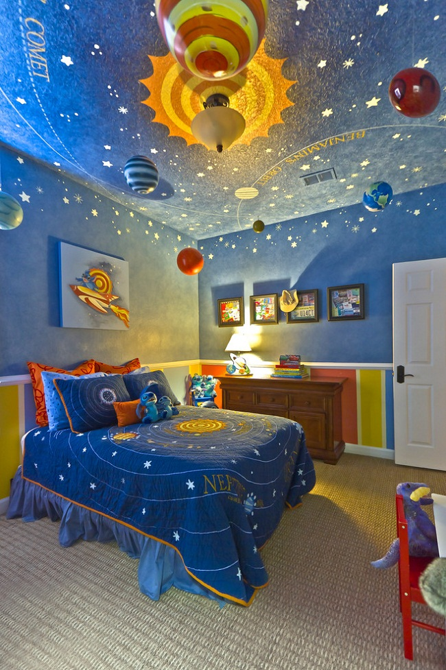 Solar System Ceiling for Kids Room