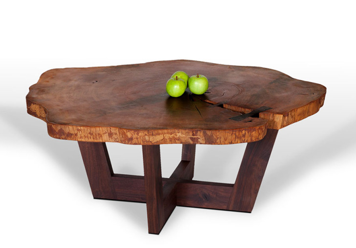 Slab Tree Trunk Table