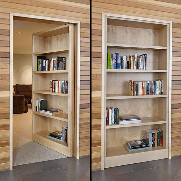 Amazing door with inbuilt shelves