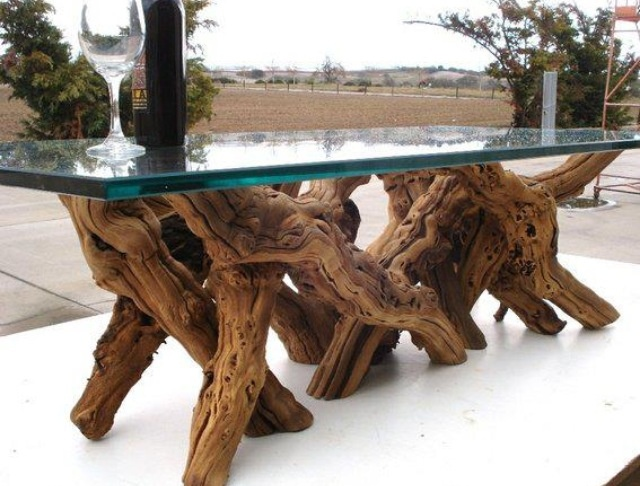Multi-legged Tree Trunk Table