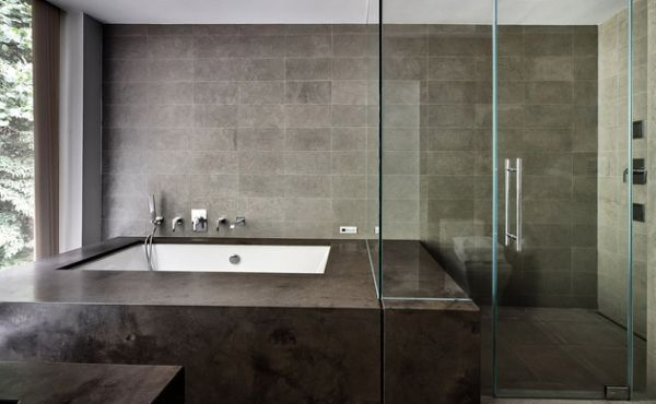 Bathtub Dark Design Seating Ideas
