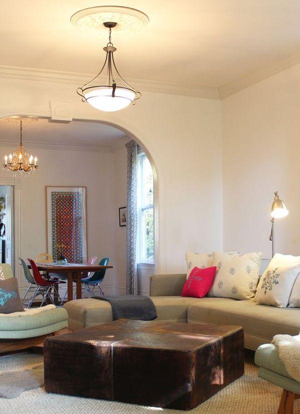 Rectangular Modular Coffee Table in a Living Room
