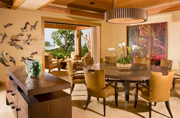 Splendid Dining Room Designs With Gold Accents