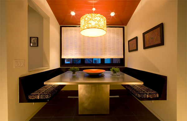 Splendid Gold Accents Dining Room Design