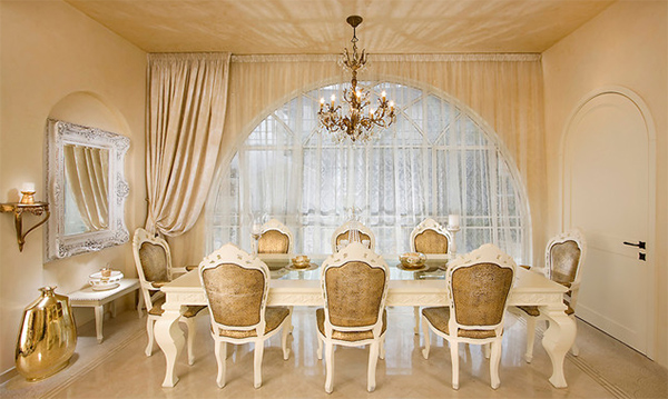 Splendid Gold Accents Dining Room