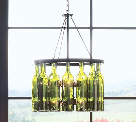 Bottle chandeliers