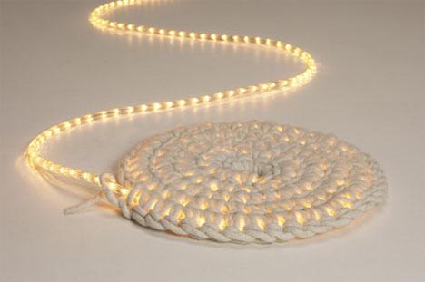 Carpet lights in white