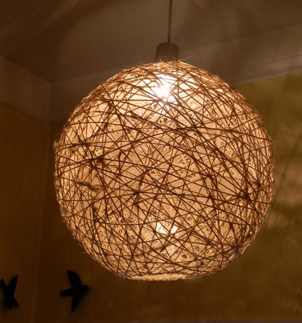 Bamboo orb lamp