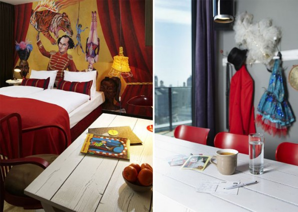 Joyful hotel interior concept representing vivid life in for Design hotel 25 hours vienna