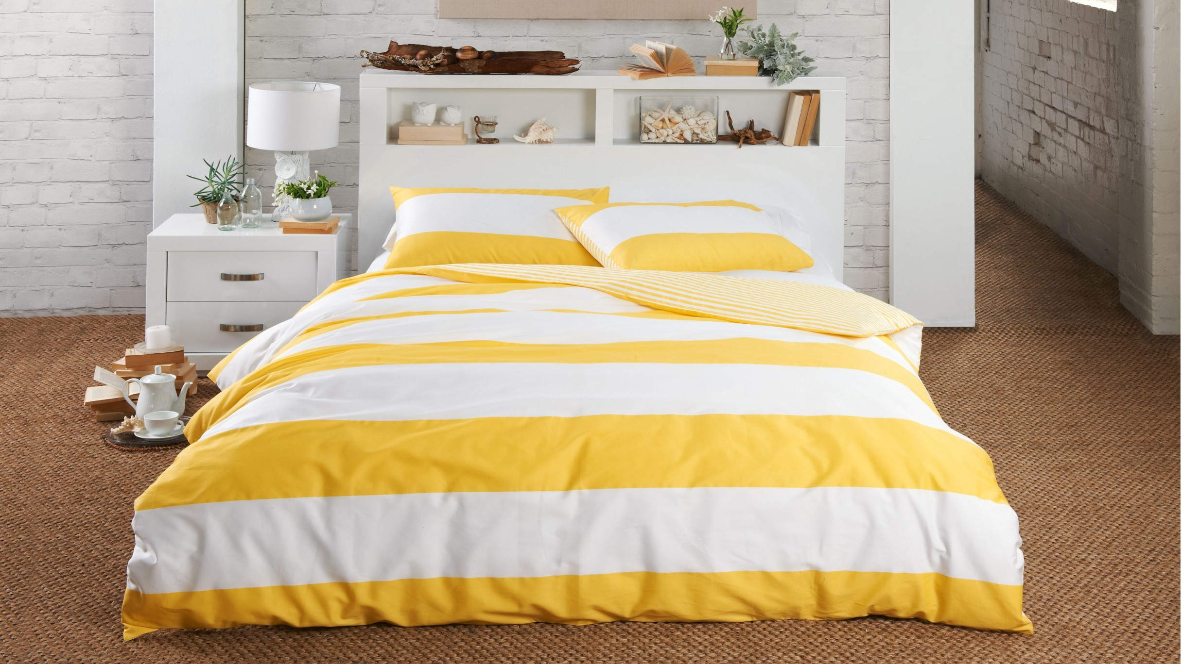 Nice Yellow Duvet Cover With Cool Design Housebeauty