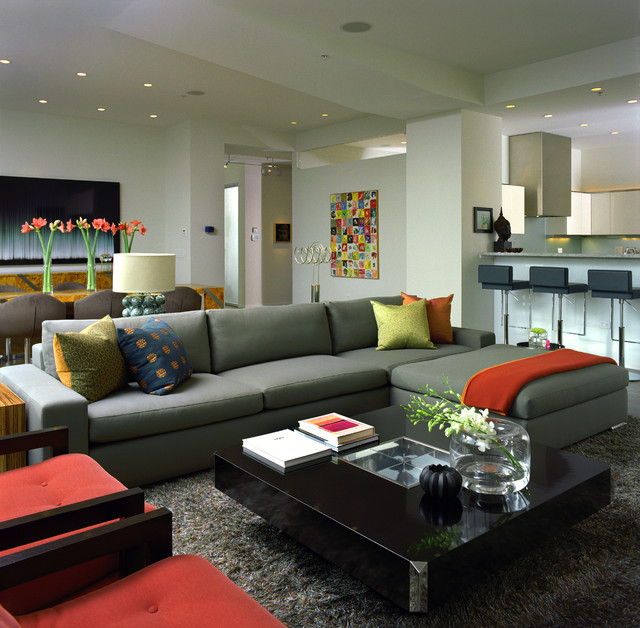 Before And After Merging Two Rooms Has Created A Super: Fancy Sofa Sectionals Create In Modern Design Makes Living