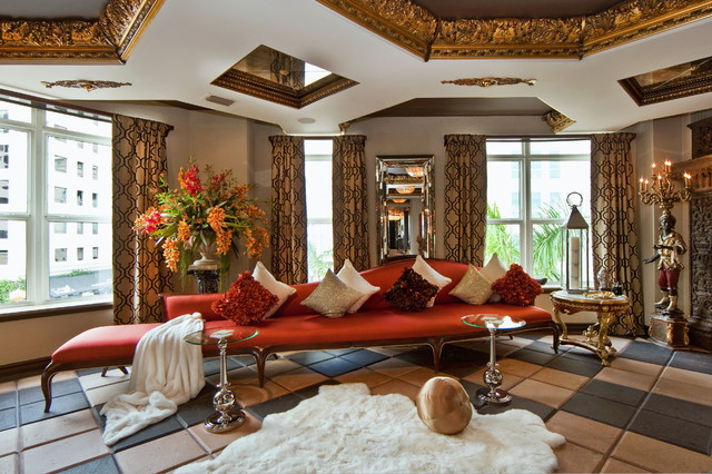 Gorgeous Red Sectional Sofa Plan In Fashionable Style