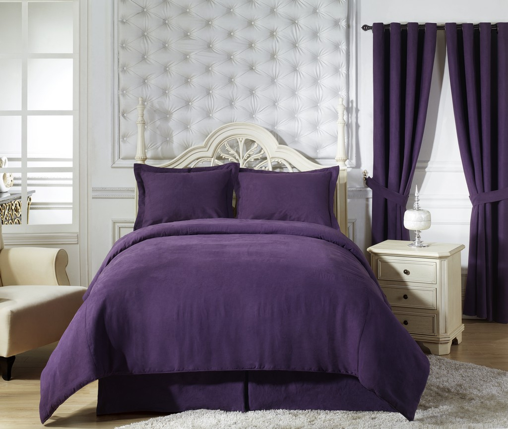 Elegant Purple Duvet Cover Installation For Your Beautiful