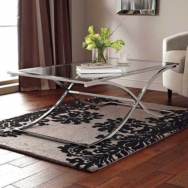Epic Houston Glass Chrome Coffee Table Furniture with Modern Design in Living Room Interior for Inspiration to Your House The End Of How To Decorate A Round Coffee Table