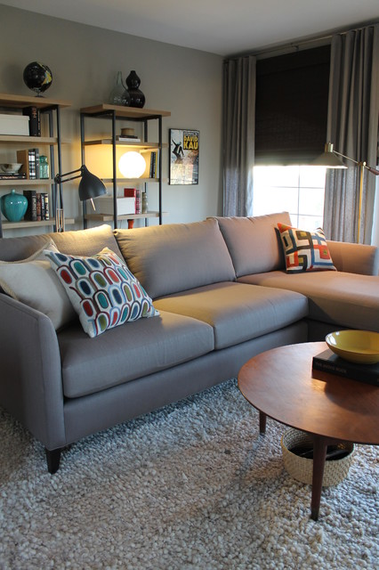 Modish Gray Sectional Sofa Matches For Mono Bright