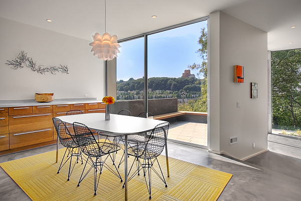 Color Outside The Lines Small Living Room Decorating Ideas: Stylish Contemporary Cube House Making It Simple And