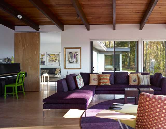Whimsical Purple Sofa Which Display Gorgeous Interior
