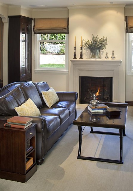 Elegant Leather Sofa From Adorable Rooms Housebeauty