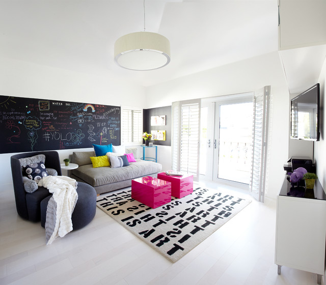 Appealing Cool Rooms For Teenagers Playing Decoration With