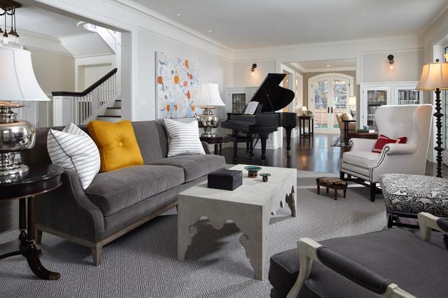 Fabulous Fashionable Grey Sofas Which Underlines The All White Creativecarmelina Interior Chair Design Creativecarmelinacom