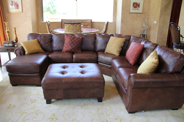Enchanting Leather Sectional Sofa For Various Indoor Space