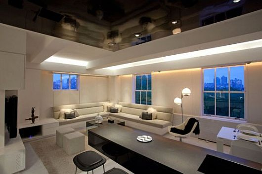 mood lighting living room black and white room design combined with led 16840