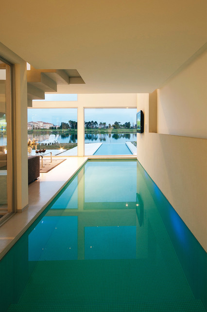 Delightful Indoor Pool House Designs Saving Skins From Sun