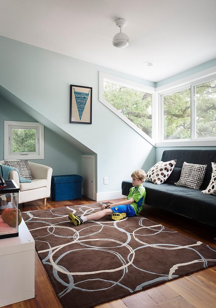 graceful bungalow house  sleek  efficient room