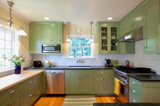 green painted kitchen cabinets colorful painted kitchen cabinets for eye catching looks 16062