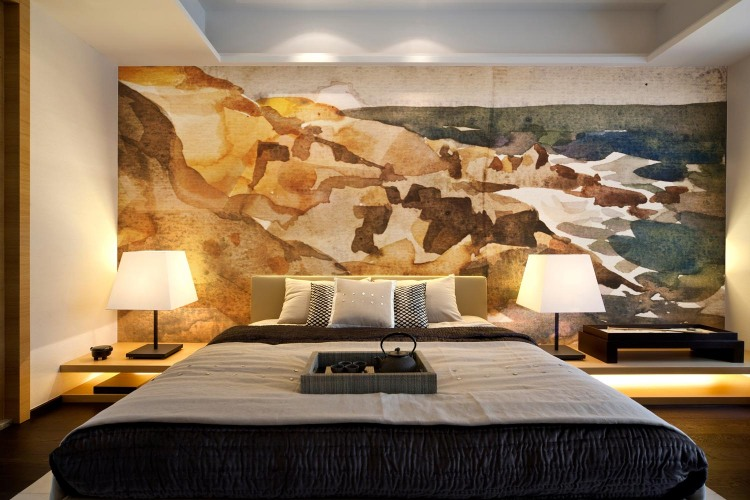 Creative Wall Mural Ideas Color Gradation For A Good Looking