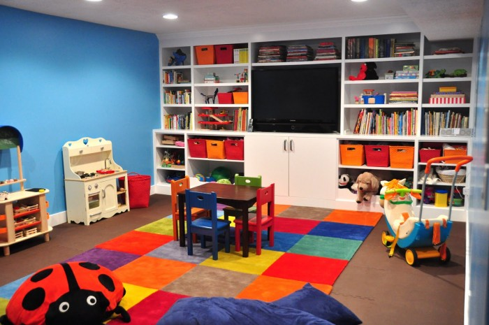 Cheerful Kid Playroom With Various Themes And Colorful