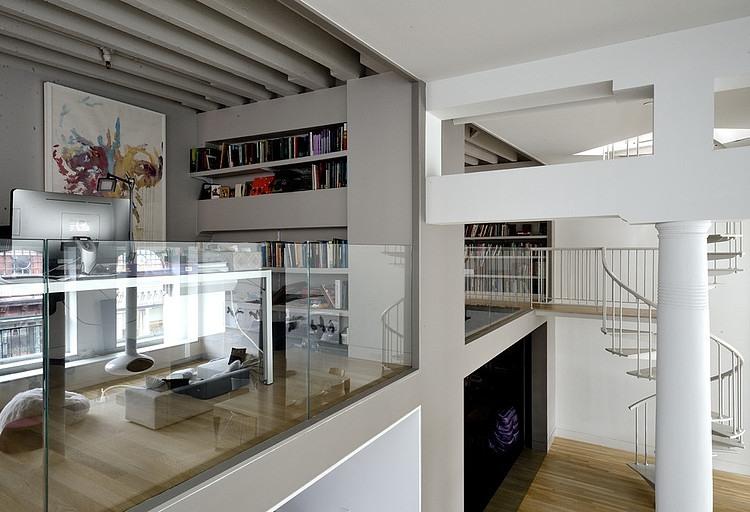 magnificent duplex loft interior with minimalist furniture housebeautyDuplex Office Ideas #7