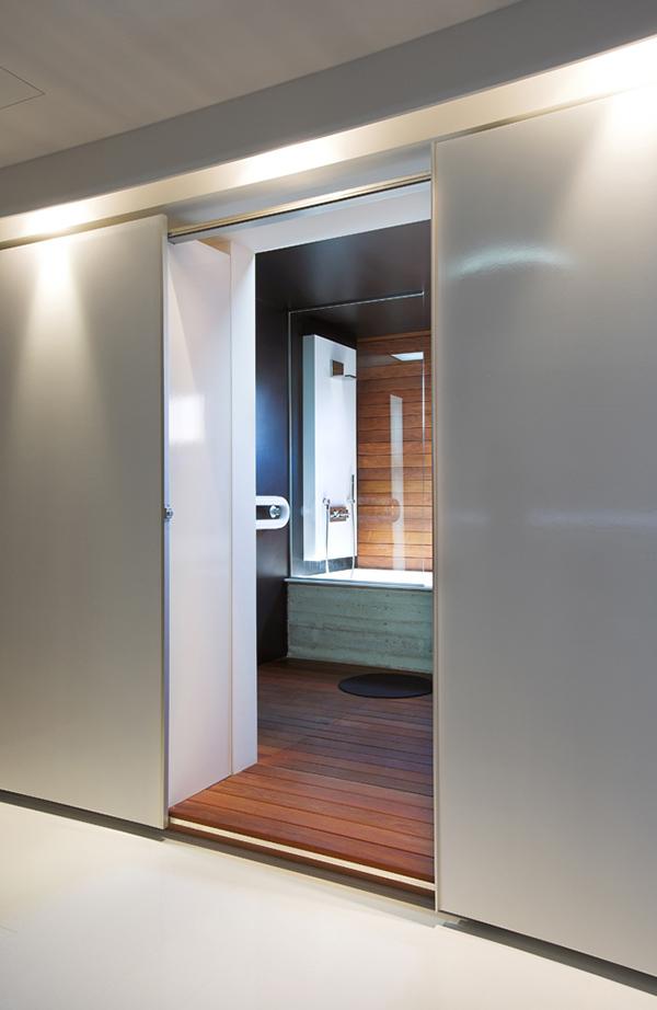Amazing Cyprus Apartment Bathroom with Sliding Doors