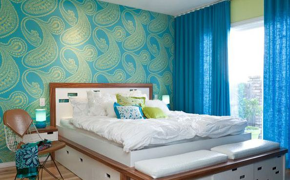 Bedroom Interior Design with Blue Shades
