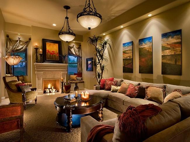 Bubier Beige Living Room Lighting Option