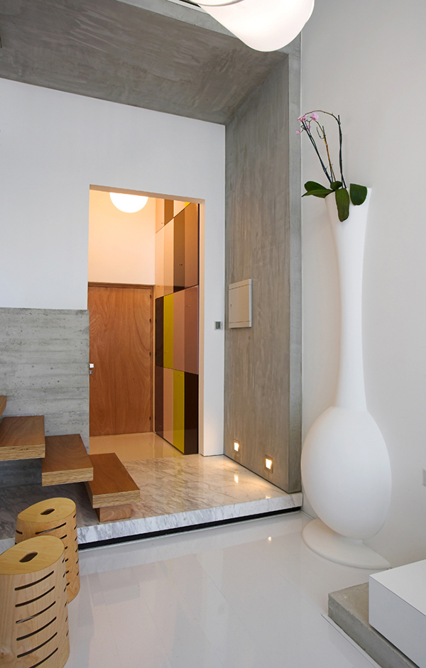 Giant White Jar in Front of the Staircase