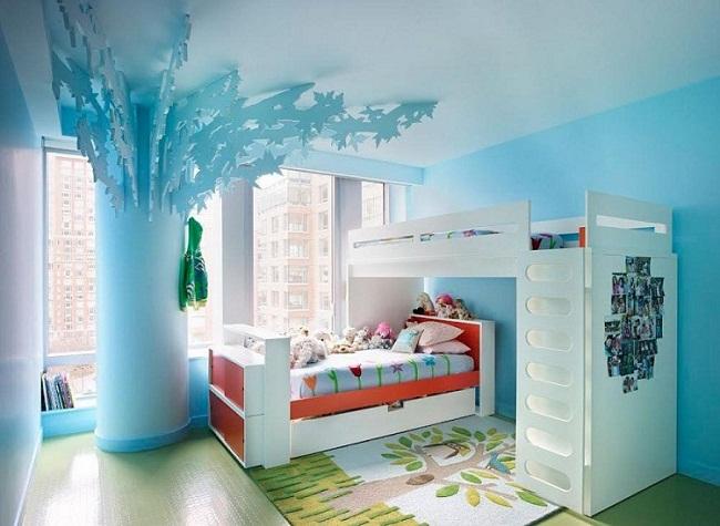 Interior Design with Blue Shades