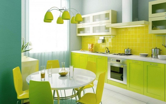 Interior Designs with Blue and Light Green Shades