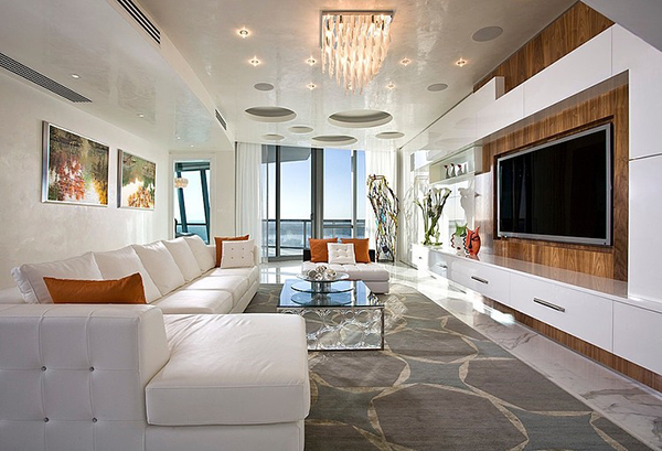 Jade Ocean Penthouse Stunning Design of the Living Area